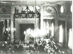Lunsj med kongeparet 1911.
